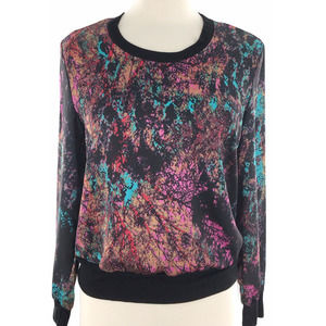 Three Eighty Two Abstract Printed Top M